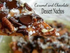 grilled dessert nachos are an easy summer dessert..and summer IS on it's way.. really it is.