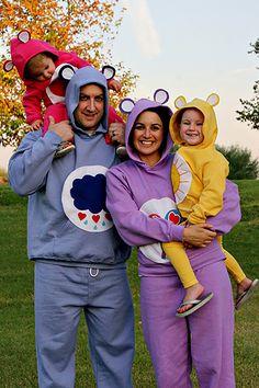 Adorable DIY Halloween Costume Idea for Families- The Care Bears #Goodwill #Halloween #Costume #DIY #Upcycle