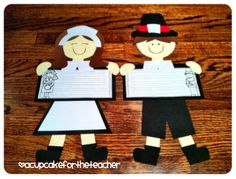 A Cupcake for the Teacher: Little Pilgrim Kids {a Craftivity}