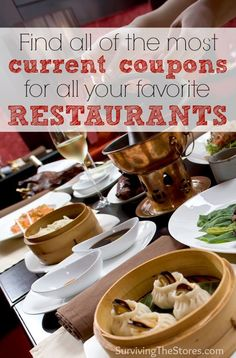 Do not go out to eat before checking this site! It is updated throughout the day with all of the newest restaurant coupons and you can easily see which restaurants have current coupons!  You can even show the coupon directly from your phone at most restaurants.