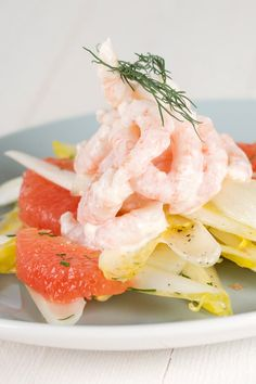 Endive, Shrimp, Citrus Salad by karinemoniqui #Salad #Shrimp #Citrus #karinemoniqui