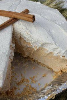 No-Bake Pumpkin Pie with Maple Spice Cream