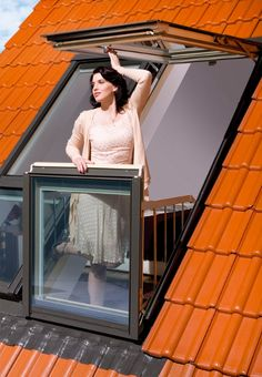 Fakro designs a window that converts into a balcony  (www.fakro.com)