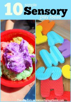 Learn with Play at Home: 10 simple Sensory Play ideas