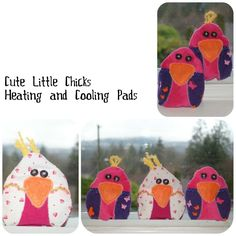 bird heating pads - cute!