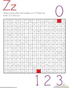 Letter Maze: Z   Education.com