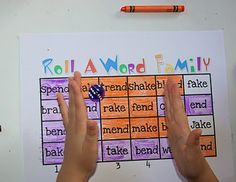 turn roll, color, word families, phonic, column
