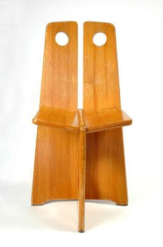 Anonymous; Wooden Chair, 1950s