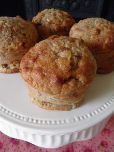 Healthy muffins - banana and apple