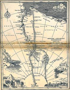 Scotts last expedition map, 1923