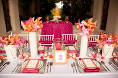 Fuchsia & Orange Wedding Theme on Pinterest