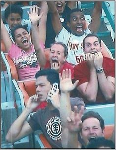 How to ride a roller coaster. Like a Boss.