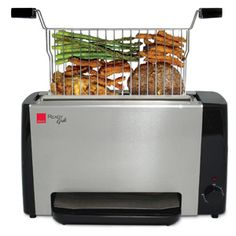 Enter for a chance to win this Ronco smokeless indoor grill!  Five lucky winners will each receive a Ronco Ready Grill with removable Grill Basket and Drip Tray ($89.98). Winners will also receive an eight piece set of Kabob rods ($17.99). (Approx. retail value: $107.97); Ronco.com
