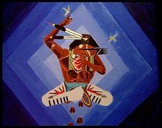 Oscar Howe (Yanktonai Dakota, 1915–1983): 'Love'