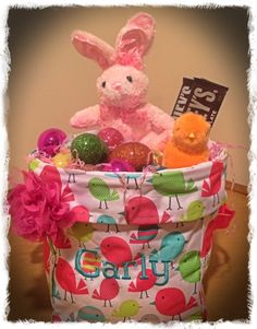 Mini Utility Bin in new SWEET TWEETS print makes a perfect Easter basket! Order yours by contacting me. Hoppy Easter!