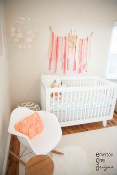 Project Nursery - Coral and Teal Nursery