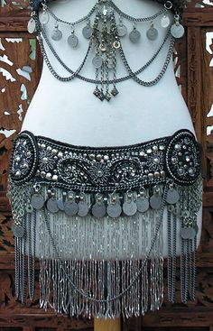 Hollywood Tribal Beaded Belt Belly Dance Scarlet's Lounge