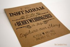 Personalized Printable Rustic Wedding Instagram Sign - Hashtag Wedding Sign - Rustic Wedding - PDF - DIY - AA2 on Etsy, $8.00