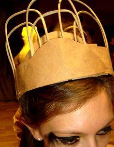 diy princess crown from paper bags
