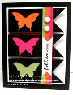 Stamping with Julie Gearinger: CAS Butterflies- Two Challenges in One!