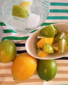 Simple Vodka Soda.  Add ice to glass, and then add 1 shot of Pinnacle vodka.  Fill to the top with club soda. Top with squeezed lemon and lime slices.  Sip! It's hot out there.
