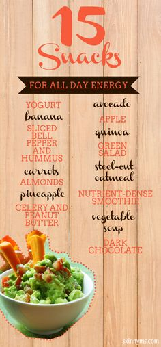 15 Snacks for All Day Energy #healthy