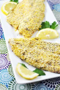 Cornmeal & Chia Seed Crusted Tilapia