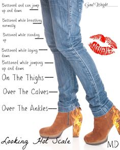 Keep track of your weight loss with this super cute Hot Jeans Scale! #inspireothers