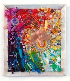 trash art, ken nathan, recycl art, reus trash