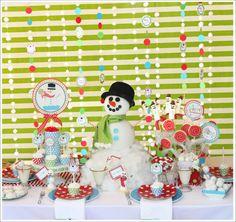 snowman christmas party decorating ideas via www.karaspartyideas.com