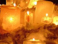 Winter ice candles