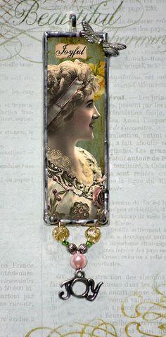 soldering glass pendant | Soldered glass pendant Microscope slide jewelry by ... | jewelry maki ...