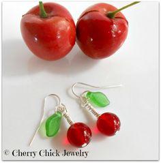 Charming Cherry Glass Earrings <3 #CherryEarrings #Cherries #CherryChick