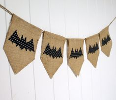 Shabby Halloween Bunting With Bats