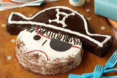 Buccaneer Cake Recipe - Kraft Recipes birthday parti, kraft recipes, pirate cakes, pirat cake, buccan cake, pirat parti, parti idea, cake recipes, kid
