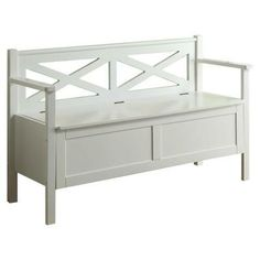 Its architectural design and storage space are just two reasons why this bench is a keeper. | $213