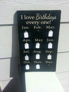 family birthdays, birthday calendar, wood plaqu, famili birthday, tag, birthday plaques