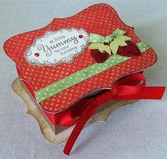 gift boxes, paper craft, patterns, papercraft, craft idea, card, strawberri, small gifts, crafts