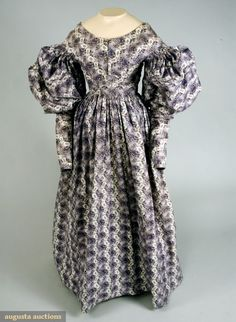 vintag, auction, purple, 1830s fashion, histor fashion