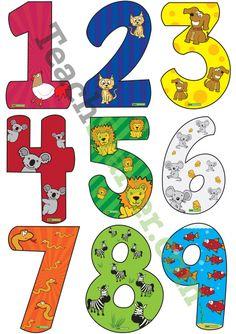 Cijfers met dieren