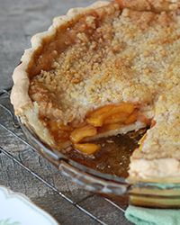 Deep-Dish Peach Streusel Pie with Ginger Recipe on Food & Wine