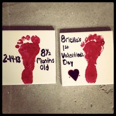 Baby's first Valentine's Day coasters