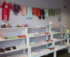 clotheslines, baby shop display, display idea, shelv, baby clothes display, craftshow display, cloth display, babi display