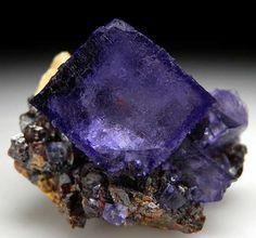 Fluorite on Sphalerite from Elmwood Mine, Carthage, Tennessee