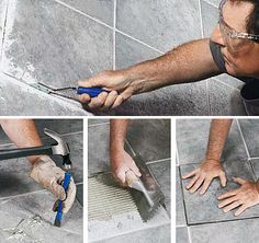 Sometimes you don't want to lay a whole new tile floor, but just remove and replace a tile or two. Here's how to do it, step-by-step.