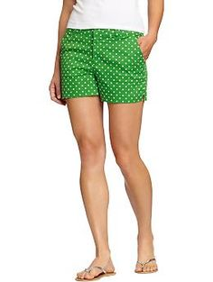 Women's Printed Twill Shorts | Old Navy