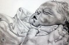 Charcoal Portraits baby