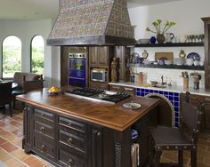 Bar With Mexican Tile Design, Pictures, Remodel, Decor and Ideas