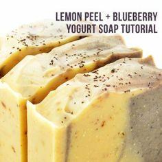 Lemon Peel + Blueberry Yogurt Soap Recipe