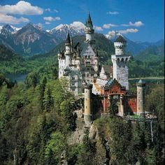 Neuschwanstein castle, Germany.. Disney's inspiration for Sleeping Beauty's castle